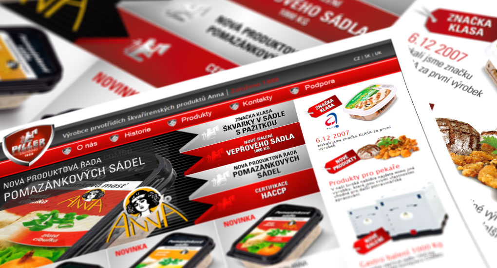Webová prezentace Piller